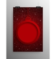 Vertical Poster Christmas Frame Star Red Sky vector image vector image