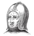 war helmet vintage engraving vector image vector image