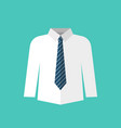 white shirt with necktie vector image vector image