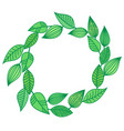 wreath chaplet coronal from green leaves summer vector image vector image
