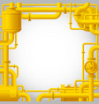 yellow gas pipes vector image vector image