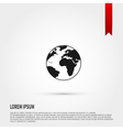 Earth Icon Flat design style Template for design vector image