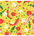 Seamless pattern with food slices design elements vector image