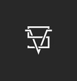 Versus logo VS letters together hipster crossing vector image