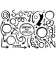 00003 hand drawn doodle design circles elements vector image vector image