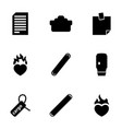 9 sticker icons vector image vector image