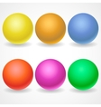 A collection of balls of different colors and vector image vector image