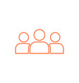 a group of people logo vector image vector image