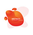 abstract blur free form shapes color gradient vector image vector image