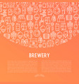 beer concept with thin line icons vector image vector image