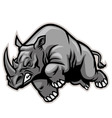charging rhino vector image vector image