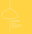 cloud in a linear style on a yellow vector image vector image