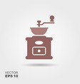 coffee grinder icon vector image vector image