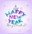colorful watercolor 2019 happy new year brush vector image