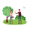 couple on romantic date vector image vector image