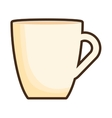 cup beverage isolated icon vector image vector image