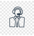 customer service concept linear icon isolated on vector image