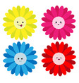 cute flower on white background vector image