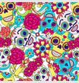 day dead seamless pattern sugar skulls vector image vector image