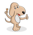 dog holding a dog food vector image