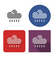 dotted icon heavy rainfall in four variants vector image