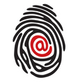 finger print email vector image vector image