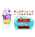 flat candy shop concept vector image vector image