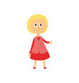 flat cartoon girl pupil isolated vector image vector image