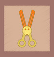flat shading style icon kids scissors vector image vector image
