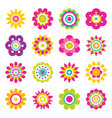 flowers blooming collection vector image vector image
