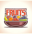 fruit dish vector image