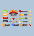 game ui user interface items flat panels icons vector image vector image