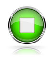green round media button stop button shiny icon vector image