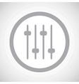Grey faders sign icon vector image vector image