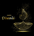 happy diwali greeting card deepavali light and vector image