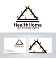 health home logo design vector image vector image