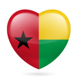 Heart icon of Guinea Bissau vector image vector image