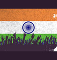 india flag with audience vector image vector image