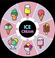infographic food icons ice cream vector image vector image
