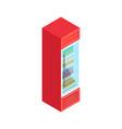 isometric supermarket fridge vector image vector image