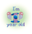 logo for baby one year birthday vector image