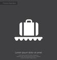 luggage on airport premium icon