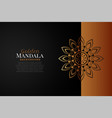 mandala background in black and rose gold color vector image