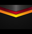 metal texture background germany flag vector image vector image