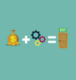 money and ideas helps to find a way out vector image vector image
