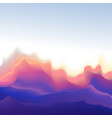 mountain shape wave background vector image vector image