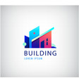 multicolor real estate logo design for vector image