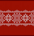 norwegian native style sweater ornament vector image