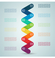 Number Steps 3d Infographic 1 to 10 D vector image