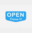 open signboard invitation template inside vector image